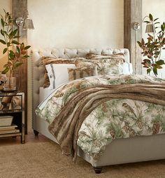 Rustic winter bedroom