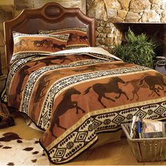 Save - on all Rustic bedding and comforter sets at Black Forest Decor. Your source for discount pricing on lodge bedding and bear bedding accessories. Western Bedroom Decor, Western Rooms, Cowboy Bedroom, Western Quilts, Estilo Cowgirl, Horse Bedding, Camo Bedding, Gray Bedding, Black Forest Decor