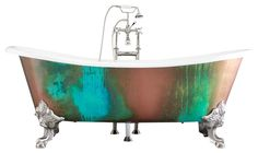 "'The Lanercost' 73"" Cast Iron Slight Slipper Bateau Tub Package from Penhaglion traditional bathtubs"