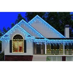 Holiday Time 300-Count Heavy-Duty Icicle Christmas Lights, Blue: Deck the halls or the patio, either one, with these Holiday Time Heavy-Duty Blue Icicle Lights. These lights are for indoor or outdoor use. Online Price: $11.98