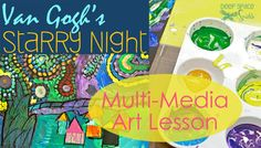 Starry Night Art Lesson. Fine art exploration for the kids!!! Love!