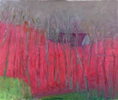 Half Hidden by Wolf Kahn. Color Field Painting, Expressionism. landscape