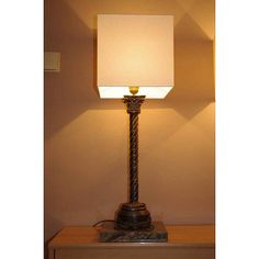 Column table lamp hand made in solid brass and by Kostylolondon