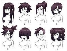 Drawing Hair Tutorial, Manga Drawing Tutorials, Manga Hair, Anime Hair, Anime Poses Reference, Hair Reference, Art Poses, Drawing Poses, Art Drawings Sketches