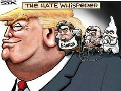 President-elect Donald Trump announced last weekend that Steve Bannon, the former head of Breitbart News, will be his chief White House strategist. Political Satire, Political Cartoons, Election Cartoons, Political Images, Caricatures, Trump Cartoons, Entertainment, Just In Case, Donald Trump