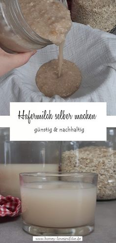 Hafermilch selber machen! Das ist echt einfach und sehr günstig  #Hafermilch  #Hafermilchselbermachen Easy Peasy, Glass Of Milk, Paleo, Sweet Recipes, Kid Recipes, Yummy Food, Food And Drinks, Oat Cookies, Beach Wrap
