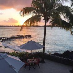 Sunset and romantic setting at la brezza - Photo by @ronnietclara  #RoyalPalm #Mauritius #bchotels #beachcomber #LeadingHotels #spa #resort
