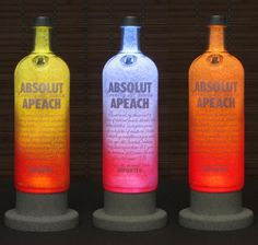 Absolut Peach Vodka Color Changing LED Remote Controlled PD