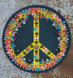 Natural Life Car Magnet- Peace Sign