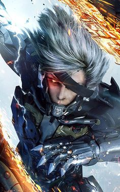 Metal Gear Rising Revengeance Leaves Stealth Behind for All Out Action - The history behind Metal Gear Rising Revengeance is quite a strange one. I've played some of the Metal Gear Solid games, and know how good th. Metal Gear Solid, Xbox 360, Batman Arkham Knight, Cry Anime, Anime Art, Lego Ninjago, Metal Gear Rising Revengeance, Walpaper One Piece, Raiden Metal Gear