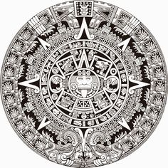 El diseño precolombino. Calendario Azteca
