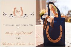 lucky horse shoe motif at this chic equestrian wedding