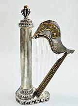 Vintage Sterling Silver Harp Form Bessamim Holder WWW.JJAMESAUCTIONS.COM