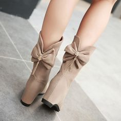 Бесплатная доставка 2017 корейский осенью и зимой половина ботинки красные розы на высоком кабгалстук-бабочкае ботинки бант большой код и лодыжка ботинки обувь женская