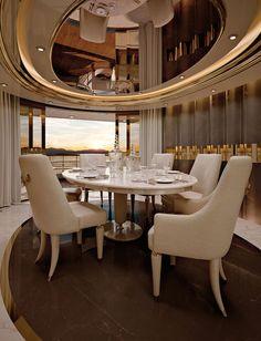 Numero Tre Collection www.turri.it Italian luxury dining room - Yacht furniture