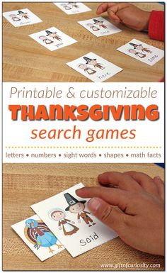 Fun way to practice sight words, math facts, ABC letters. Free Thanksgiving Printables, Thanksgiving Activities For Kids, Science Activities For Kids, Thanksgiving Parties, Autumn Activities, Thanksgiving Crafts, Free Printables, Literacy Activities, Preschool Ideas