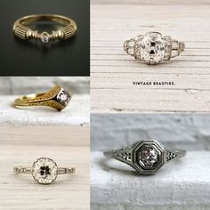 vintage rings  modern rings