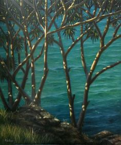 KAB Gallery are collectable art specialists, located online and at the Crowne Plaza Terrigal Wine And Canvas, Plant Painting, Canvas Home, Pictures To Paint, Three Dimensional, Painting Inspiration, Online Art, Art Images, Ocean