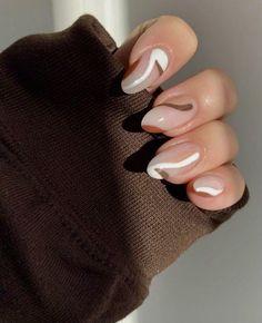 Best Acrylic Nails, Acrylic Nail Designs, Brown Nail Designs, Acrylic Art, Almond Nails Designs, Simple Acrylic Nails, Pastel Nails, Cute Nail Designs, Nagellack Design