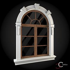 Window 024 by ThemeREX High quality polygonal model of window.max Max 2010 for separate models .max Max 2010 for the scene, w 3 Storey House Design, House Front Design, Door Design, Exterior Design, 3d Building Models, Discount Interior Doors, Fachada Colonial, Interior Window Trim, House 3d Model