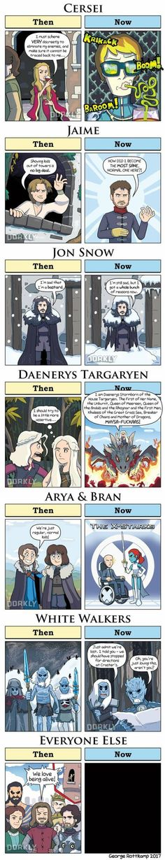 Game of thrones - Then vs Now