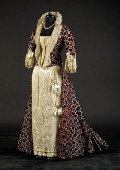 Evening dress ca. late 1870's-80's