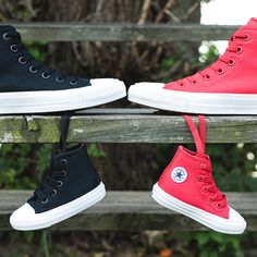 3646f2600420 Converse Chuck II in Black and Red Converse Shoes Men