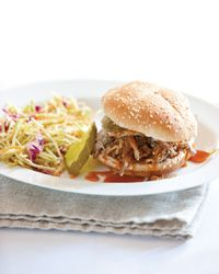 Slow cooked pork barbecue sandwiches ~ Sandra Lee Semi-Homemade