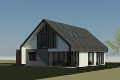 Nieuwbouw schuurwoning in Ermelo Modern Barn House, Modern House Design, Barn Loft, House Elevation, Prefab Homes, Modern Architecture, Beautiful Homes, Building A House, House Plans