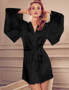 Rosie Huntington-Whiteley Models Pajamas & Lingerie for Autograph Photos