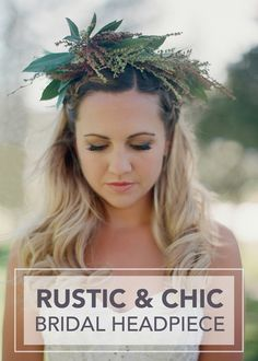 Looking to add a unique evergreen touch to your bridal look? This rustic and chic bridal headpiece could be just the flower-crown alternative you've been searching for.