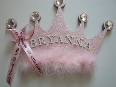 Princess Crown Name Plaque, Girls Room Decor, Name Sign, Girls Nursery Wall Art, Personalized, Hair Bow Holder, Holiday Gift,3D Wall Art. $25.00, via Etsy.