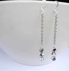$10.00  Elegant dangle Vitrail earrings;  Etsy - InBloomGallery