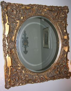 Powder room mirror, French and admittedly over the top.