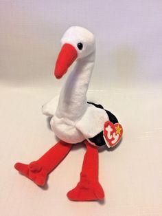 05011e2ed7e NWT RARE  Stilts  Stork Beanie Baby w  Errors  amp  Specialities  TY