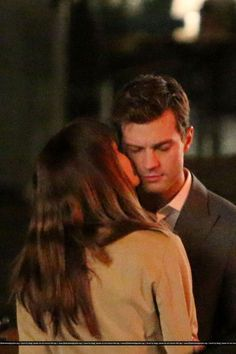 "Jamie Dornan & Dakota Johnson on set of ""Fifty Shades Of Grey"""