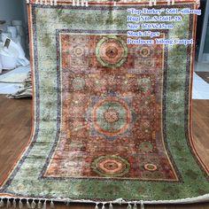 New design handmade silk carpet from Yilong Carpet factory, real 260 lines, 470 kpsi, Size: 170x245 cm  alice@yilongcarpet.com WhatsApp: 0086 156 3892 7921 www.yilongcarpet.com#art #traditionalcarpet #persiancarpetprice #persiancarpetsforsale #persiancarpet #persiansilkcarpet # handmadepersiancarpet #handmadecarpet #carpetsforsale #handknottedsilkcarpet #handknottedcarpet #woolsilkrug #handknottedcarpet #handknittedcarpet #woolsilkcarpet #handknottedpersiansilkcarpet