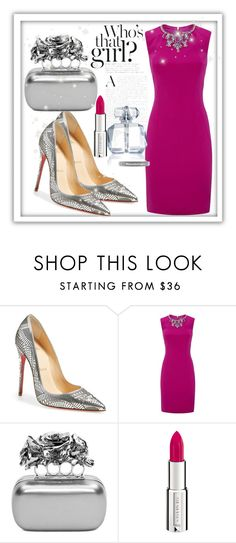 """#32"" by dzeniii ❤ liked on Polyvore featuring Christian Louboutin, Ted Baker, Alexander McQueen, Marchesa and Givenchy"