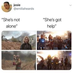 Okay I love the second part but it wasn't ALL the females in Marvel, I feel like it would have been so much better with Nat Marvel Funny, Marvel Dc Comics, Marvel Heroes, Marvel Movies, Captain Marvel, Marvel Avengers, Hawkeye Marvel, Tony Stark, The Fosters