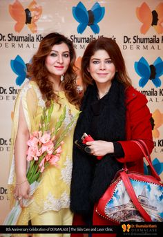Shumaila Khan, best dermatologist and skin specialist in Islamabad providing the best skincare treatments with most advanced laser technology. Skinnier Legs, Laser Clinics, 8th Anniversary, Skin Specialist, Skin Care Treatments, Celebrations, Saree, Skinny, Sari