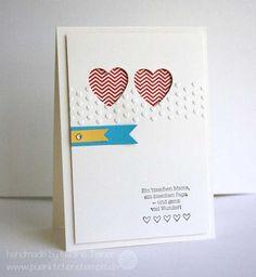 Hearts a Flutter Karte für die Geburt von Zwillingen