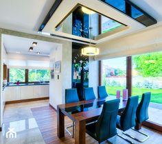Dom jednorodzinny Głusko - Średnia otwarta jadalnia w salonie, styl nowoczesny - zdjęcie od Auraprojekt - homebook