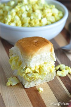 This egg salad is simple, easy, and creamy delicious. Slightly sweet, slightly tangy, and with a little crunch from dill pickles.