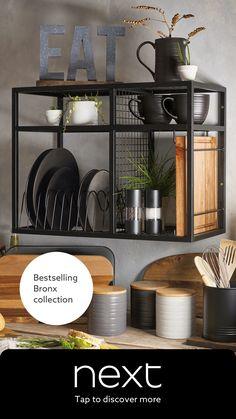 Buy Kitchen, Open Plan Kitchen, Home Decor Kitchen, Interior Design Kitchen, Kitchen Dining, Küchen Design, Cool Kitchens, Sweet Home, Decoration