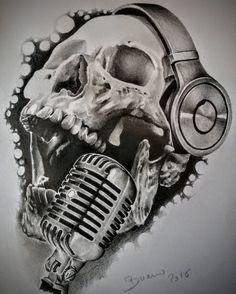 sketch par Stéphane Bueno du studio Black Corner Tattoo tatouage crane #sketch #skull #draw #realisticdrawing #valence