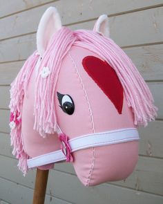 MADE TO ORDER Valentine Stick Horse or Pony by RusticHorseShoe, $48.00