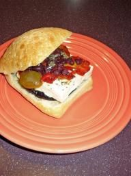 Open-Faced Grilled Eggplant, Red Onion, and Heirloom Tomato Sandwiches ...