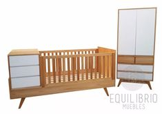 cuna funcional, nordica, escandinava, madera Baby Furniture, Children Furniture, Cnc Projects, Baby Bedroom, Baby Cribs, Cot, My Baby Girl, Bassinet, Toddler Bed