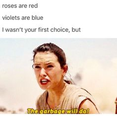 The Millennium Falcon wrote a love poem for Rey. <3