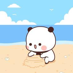 Cute Panda Cartoon, Cute Cartoon Characters, Cute Cartoon Pictures, Cute Images, Cute Love Memes, Cute Love Gif, Cute Love Cartoons, Cute Cat Gif, Cute Bear Drawings